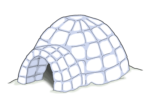 Igloo clip art black and white free clipart images 5 clipart