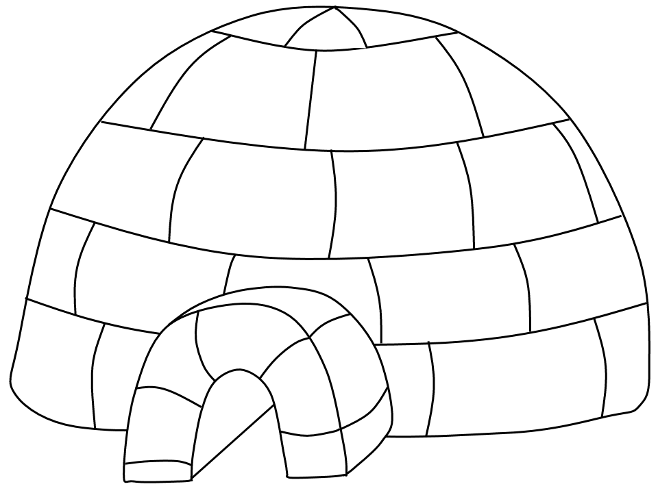 Igloo clip art black and white free clipart images clipart 2