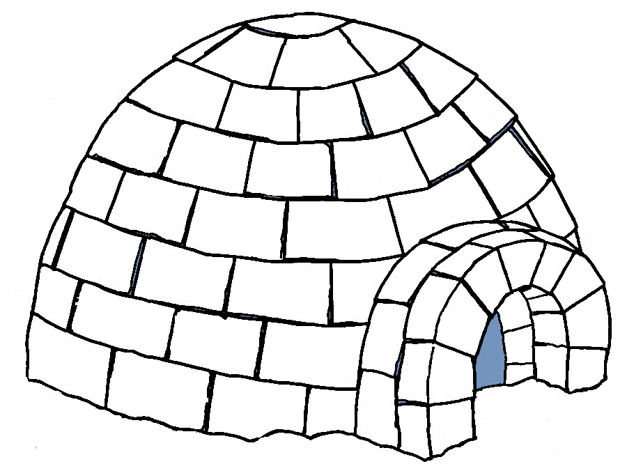 Igloo clip art black and white free clipart images clipart