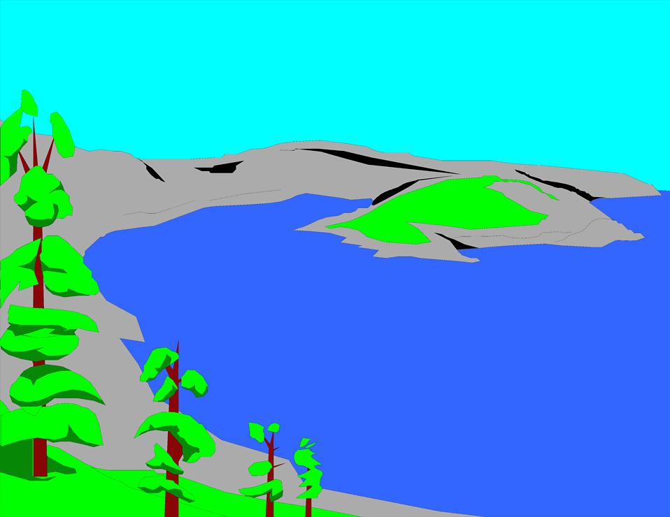 Lake clipart 3