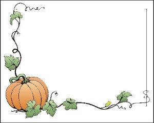 Pumpkin border 10