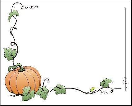 Pumpkin border 11