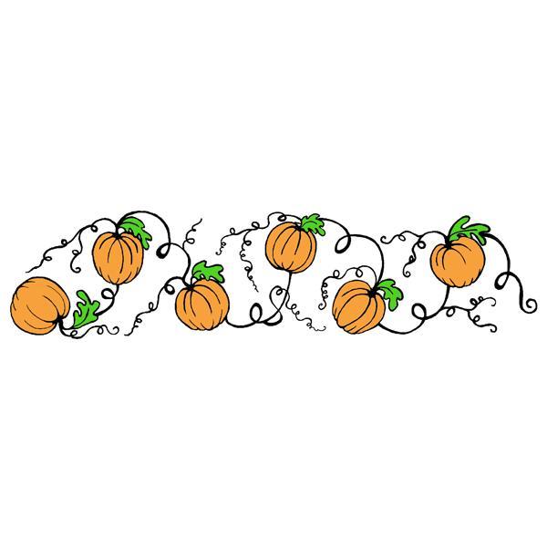Pumpkin border 12