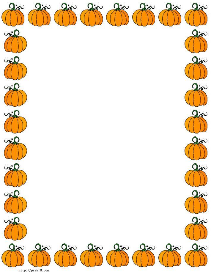 Pumpkin border 2