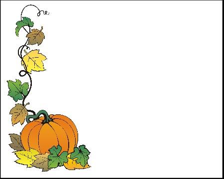 Pumpkin border 5