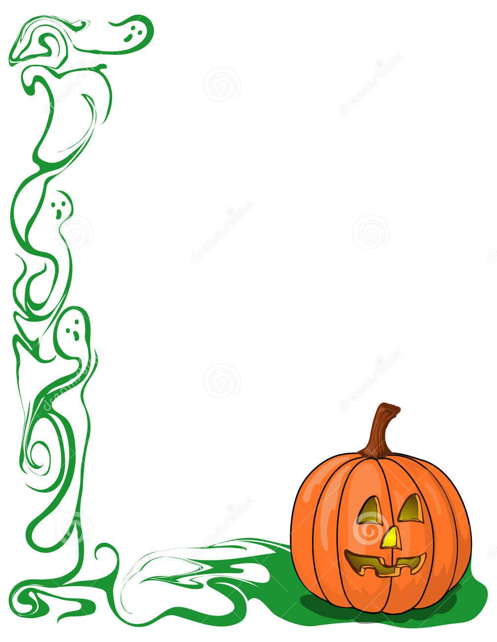 Pumpkin border 6