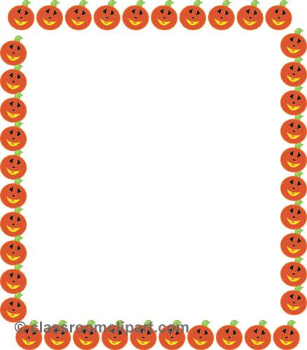 Pumpkin border 7