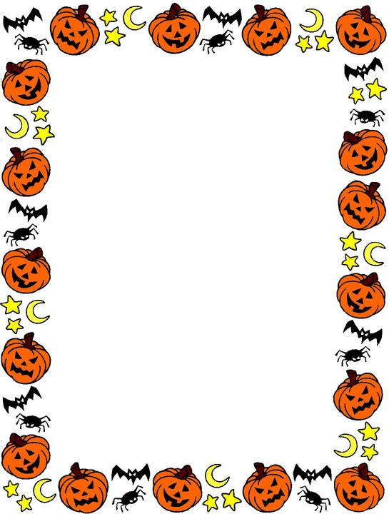 Pumpkin border halloween border halloween pumpkin clipart 2