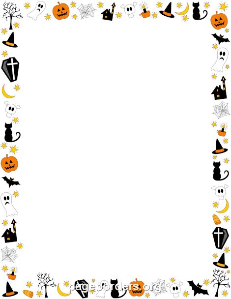 Pumpkin border halloween border pour toi mon tout petit art pages