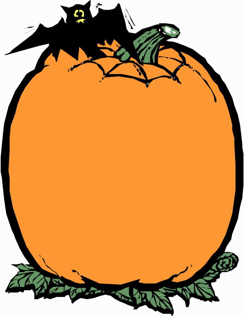 Pumpkin border halloween border pumpkin clip art free 2