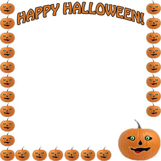 Pumpkin border halloween border pumpkin clipart free images 2