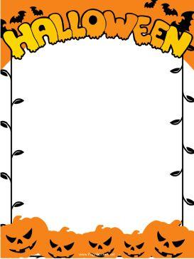 Pumpkin border halloween border pumpkin clipart free images