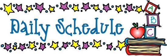 Schedule kindergarten at elizabeth park elementary clipart