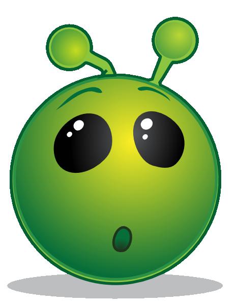 Smiley green alien wow clip art free vector 4vector