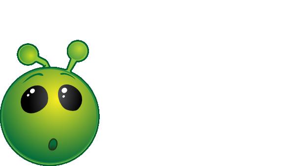 Smiley green alien wow no shadow clip art at vector