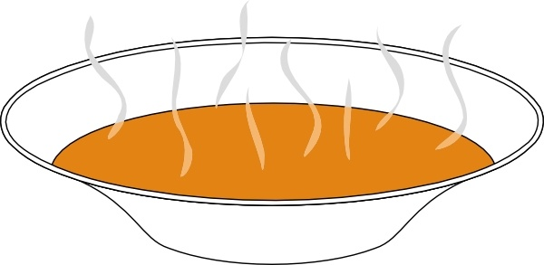 Steaming pumpkin soup clip art free vector in open office drawing