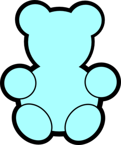 Teddy bear outline clip art 2 2