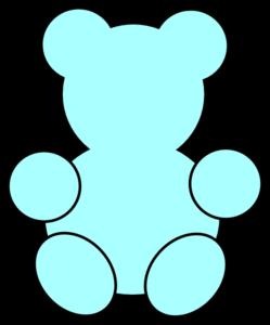 Teddy bear outline clip art 2 2