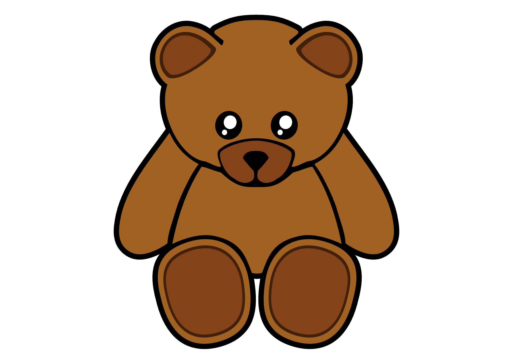 Teddy bear outline clip art 2 3