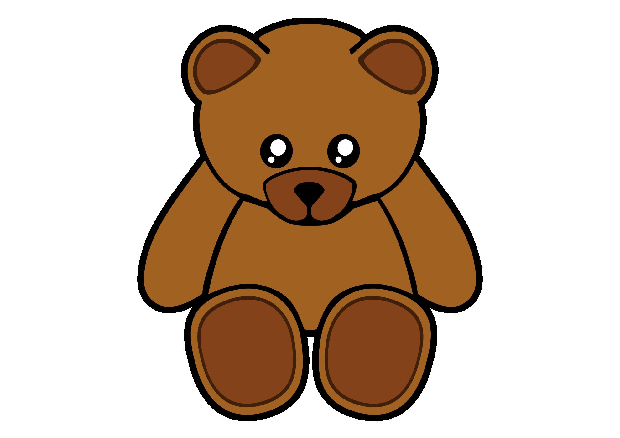 Teddy bear outline clip art 2 3