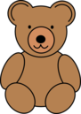 Teddy bear outline clipart free images 10