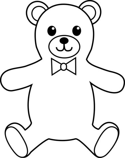 Teddy bear outline clipart free images 5