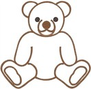 Teddy bear outline clipart free images 8