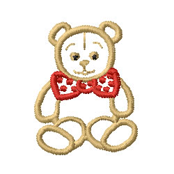 Teddy bear outline embroidery designs machine clip art 2