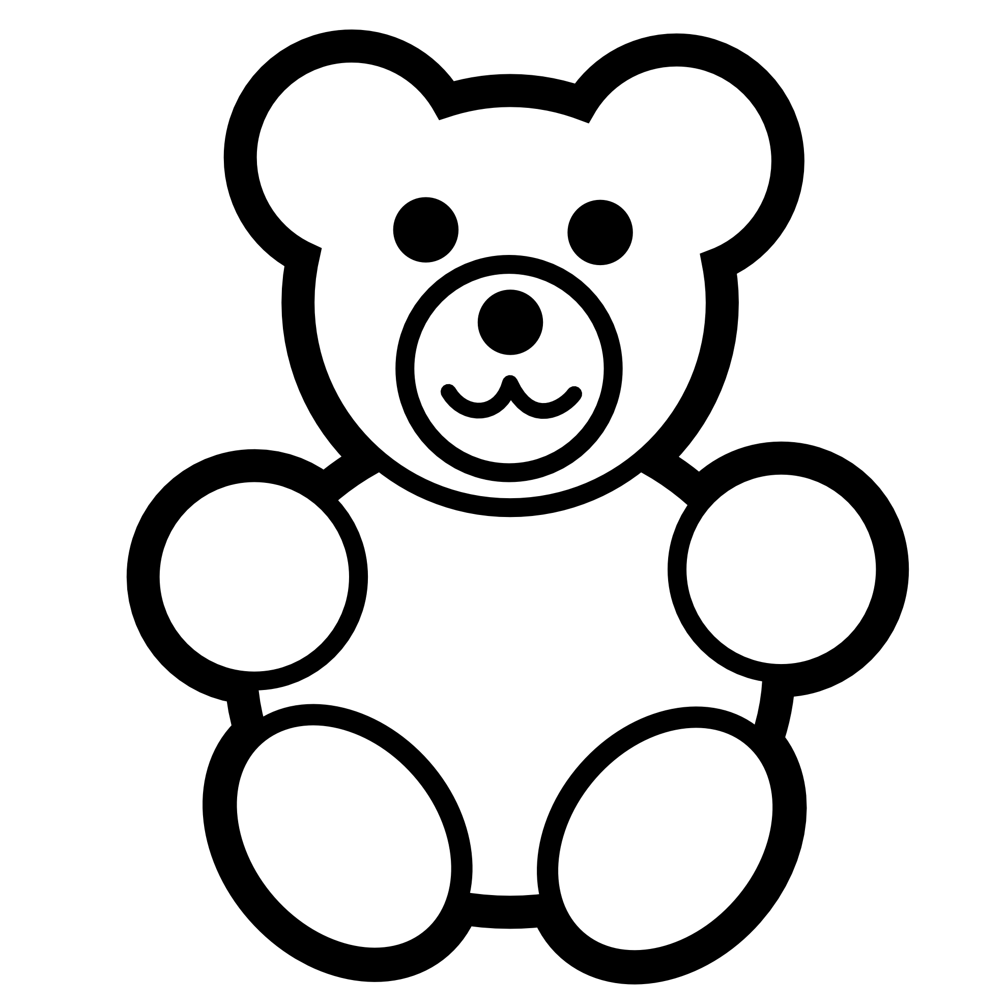 Teddy bear outline free teddy bear clip art pictures