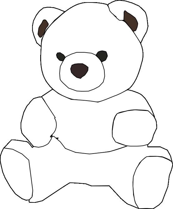 Teddy bear outline teddy bear black and white outline clipart