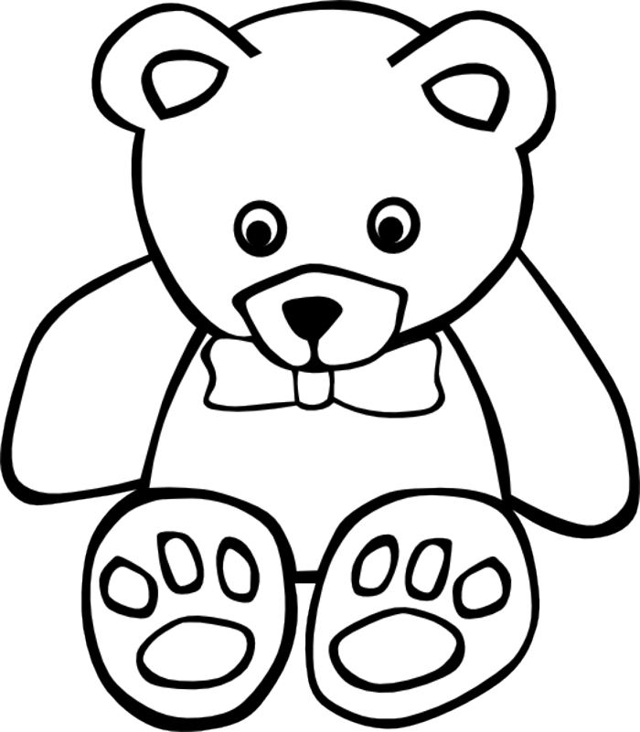 Teddy bear outline teddy bear clip art outline clipart gallery