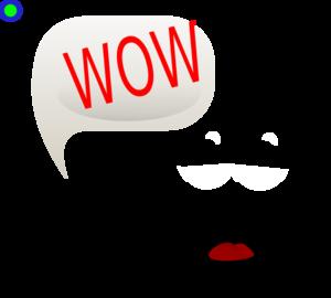 Wow smiley clip art at vector clip art
