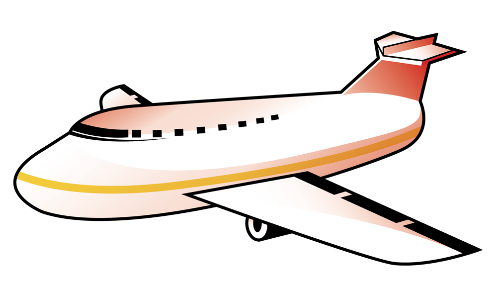 Airplane free to use clipart