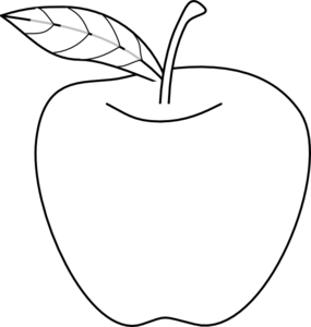 Apple  black and white apple clip art at vector clip art free