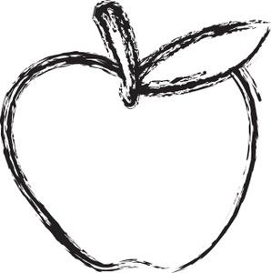 Apple  black and white apple clip art black and white 2 2