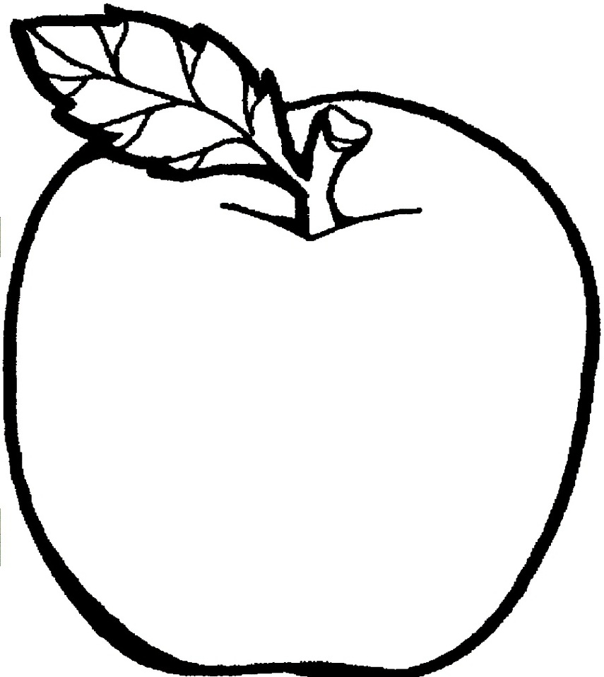 Apple  black and white apple pages clipart clip art