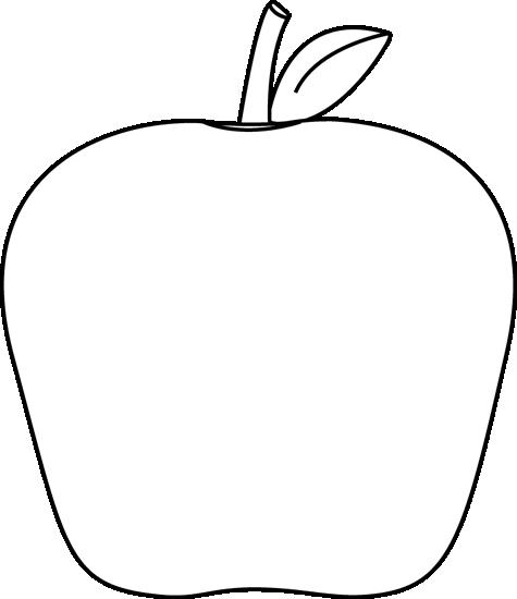 Apple  black and white black and white apple clip art image