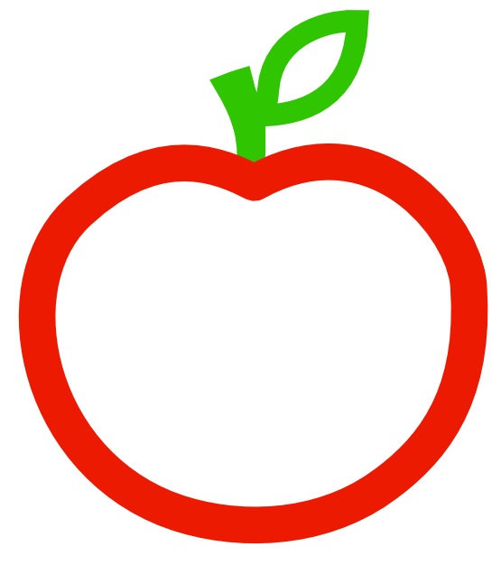 Apple  black and white clip art apple black white clipartsy