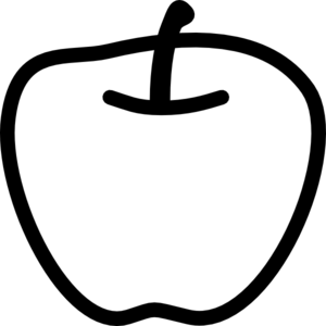 Apple  black and white free apple clipart black and white