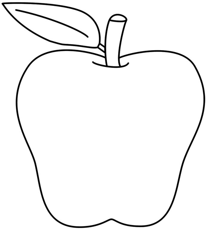Apple  black and white ideas about apple template on preschool clip art