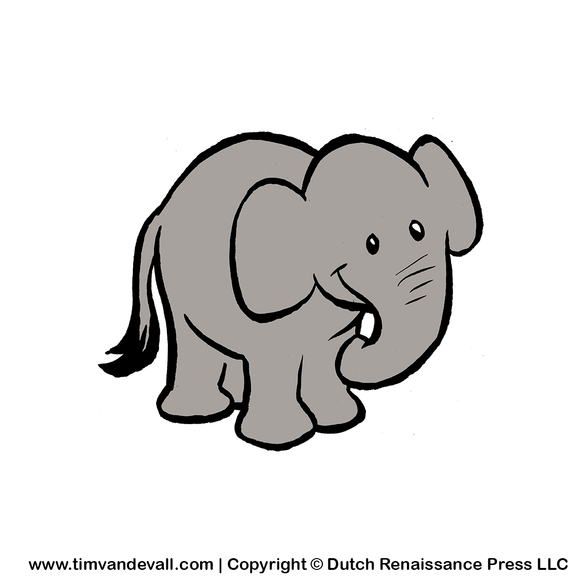 Baby elephant clipart 4