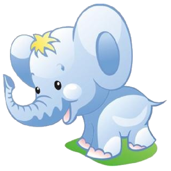 Baby elephant clipart 6