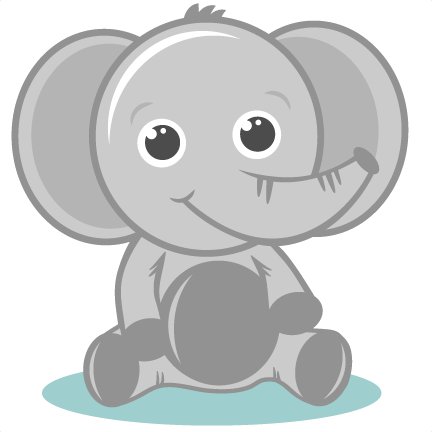 Baby elephant clipart 7