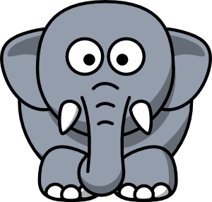 Baby elephant clipart outline free images