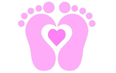 Baby feet clip art 4