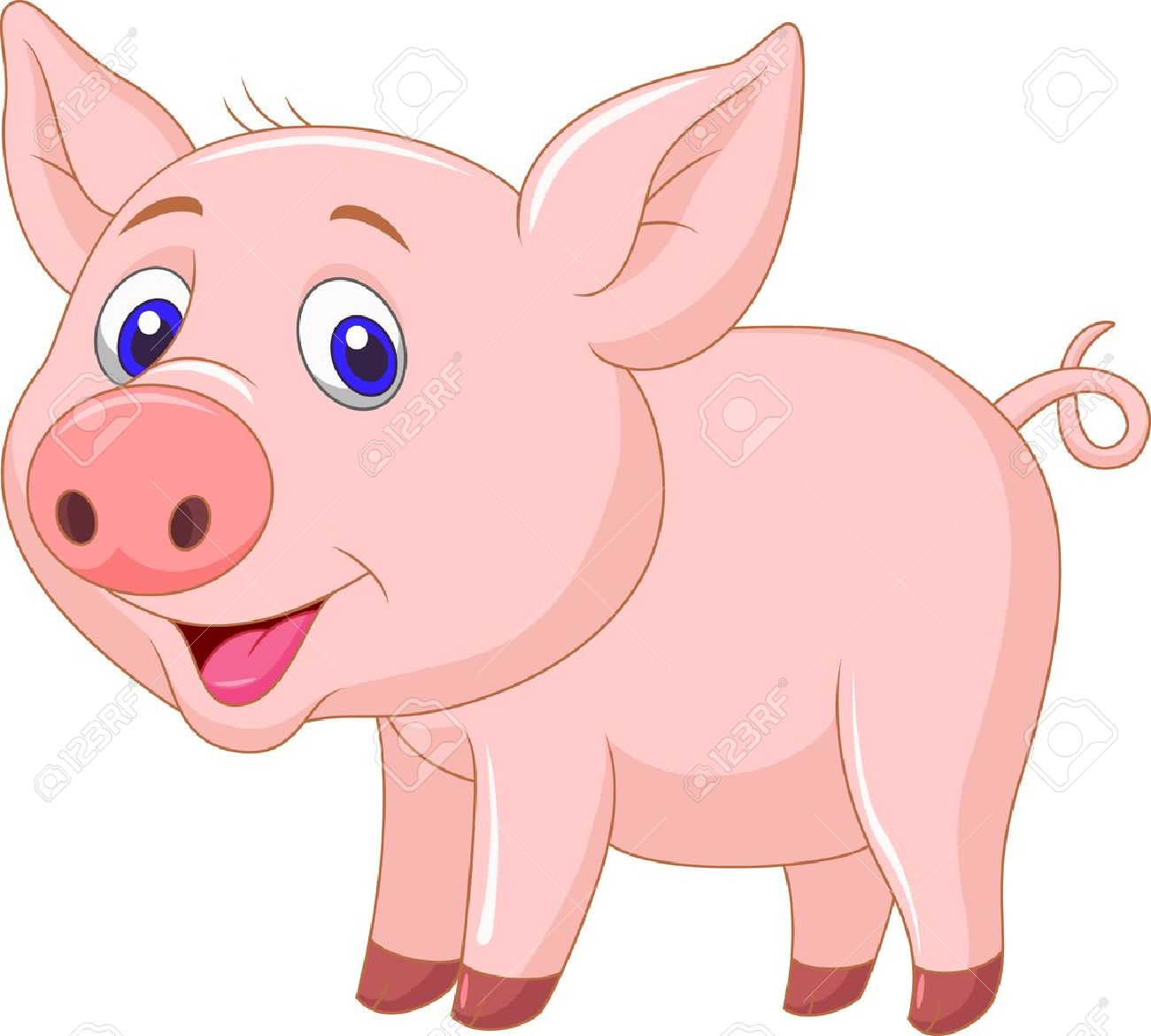 Baby pig clipart