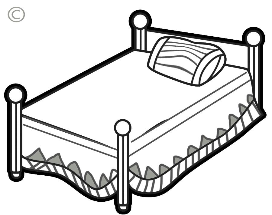 Bed clip art clipart free microsoft 3