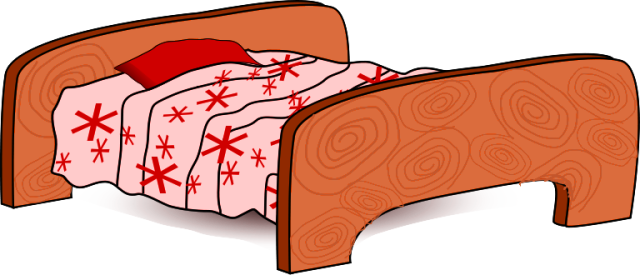 Bed clip art free clipart images 4