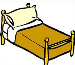 Bed clip art free clipart images