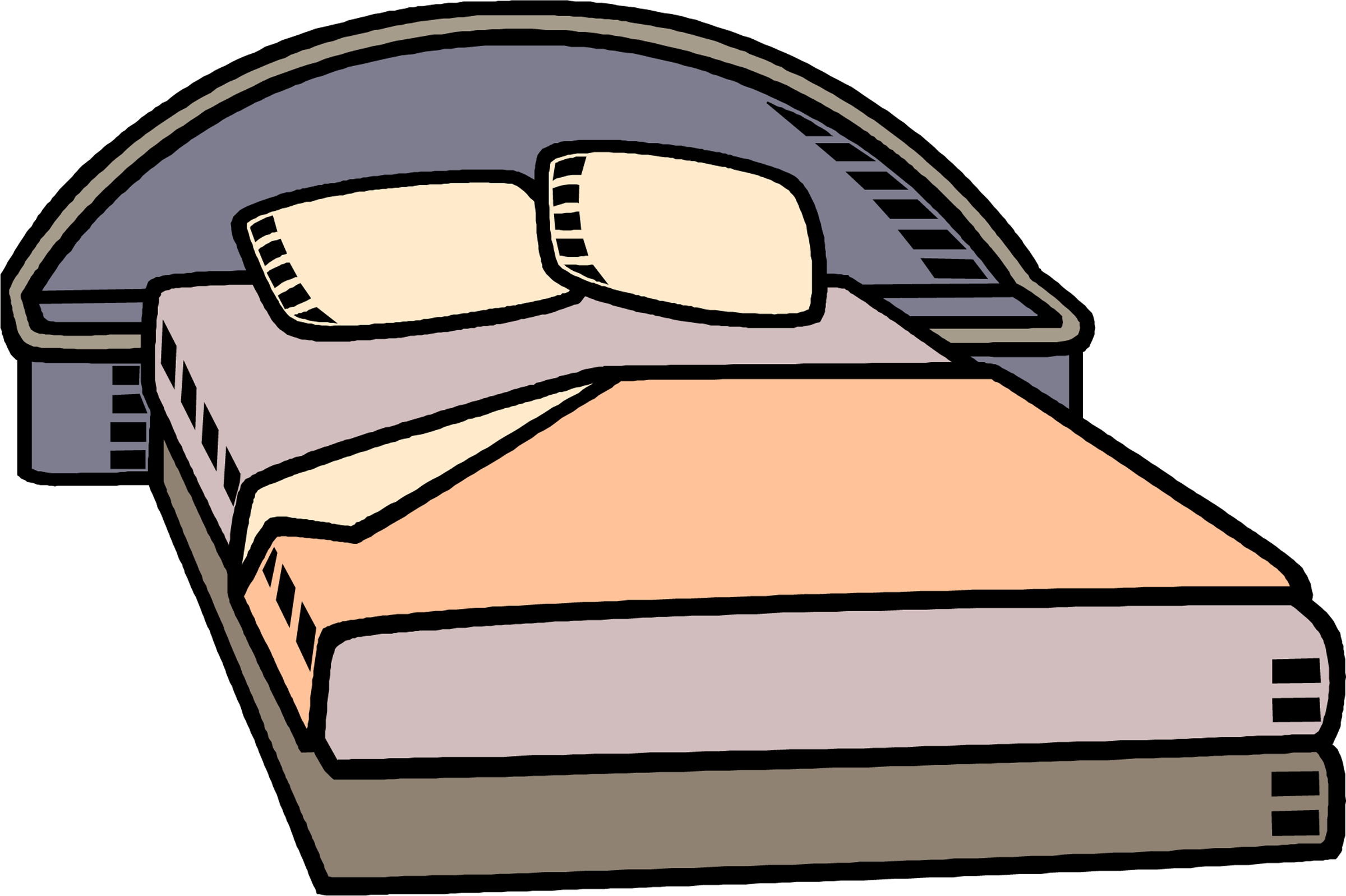 Bed clipart 7 image